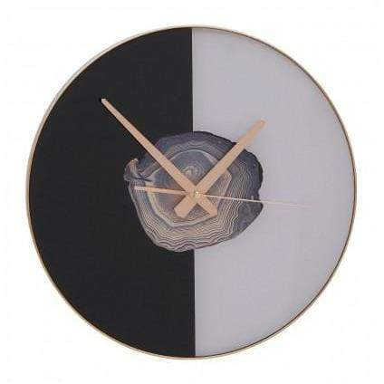 Selina Black / White Wall Clock - SAK Home