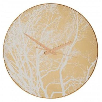 Selina Gold Finish Branch Design Wall Clock - SAK Home