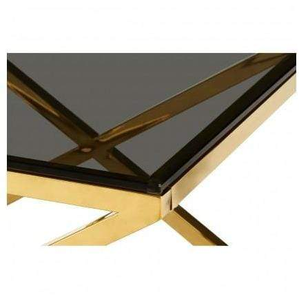 Alisa Gold Finish Coffee Table - SAK Home