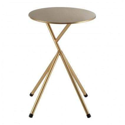 Lex Round Side Table With Gold Finish Legs - SAK Home