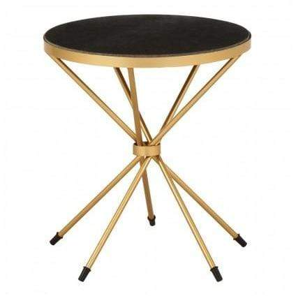 Tampa Black Marble Top Side Table - SAK Home