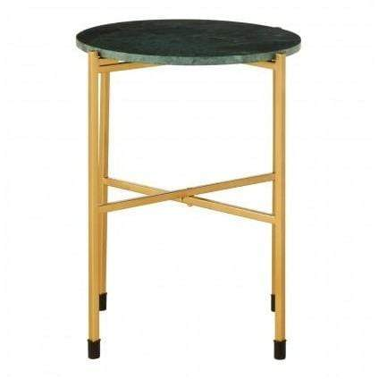 Tampa Green Marble Top Side Table - SAK Home