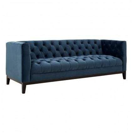 Sama 3 Seater Midnight Velvet Sofa - SAK Home