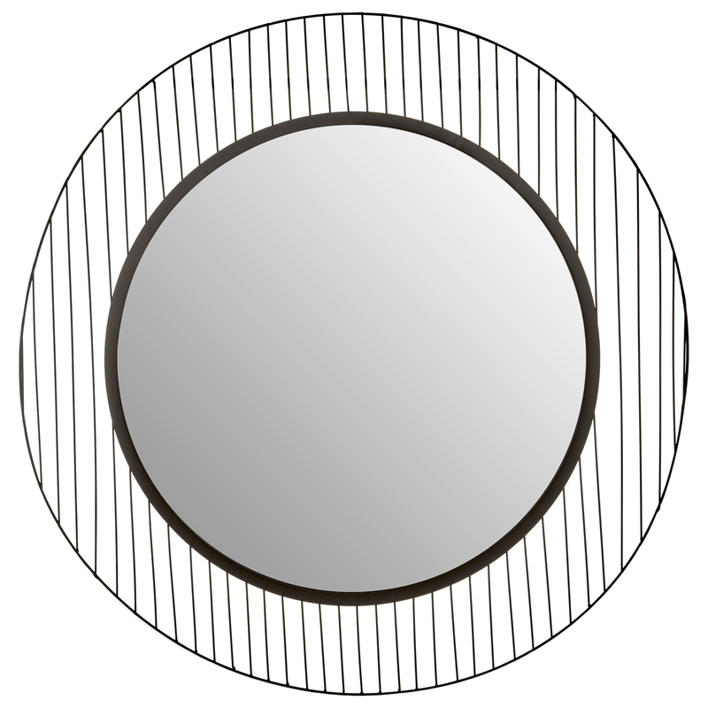 Trento Linear Lines Frame Wall Mirror - SAK Home