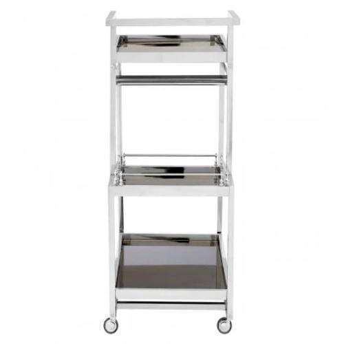 Nova  3 Tier Silver Finish Trolley - SAK Home
