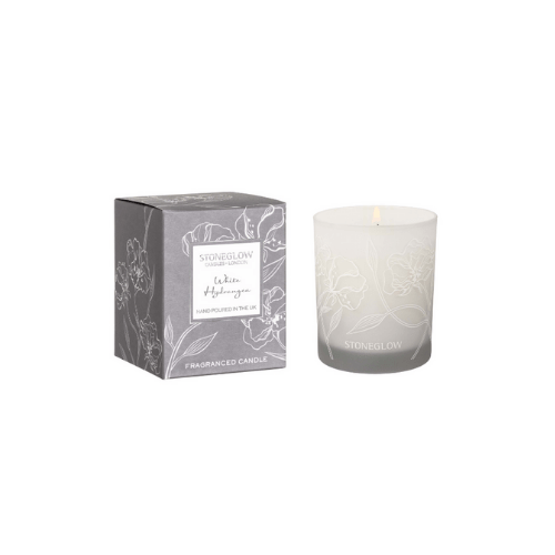 Day Flower - White Hydrangea Tumbler Candle - SAK Home