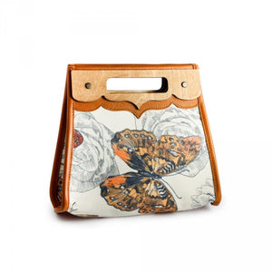 Handmade Canvas and Leather Bags for Women - Butterfly Bags