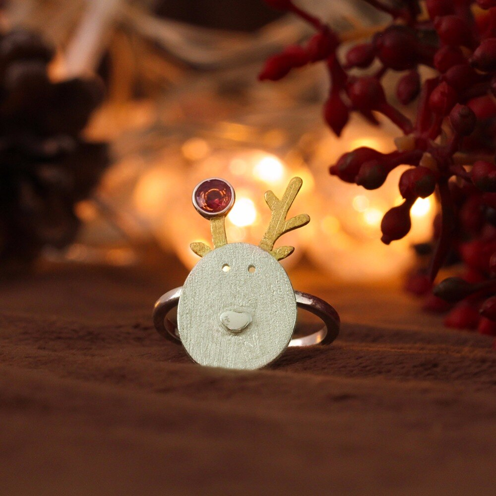 Reindeer Open Ring