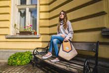 Load image into Gallery viewer, Designer Triangle Canvas Bag Online - Handmade Stylish Bags for Women