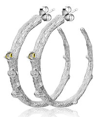 Branch Hoop Earrings