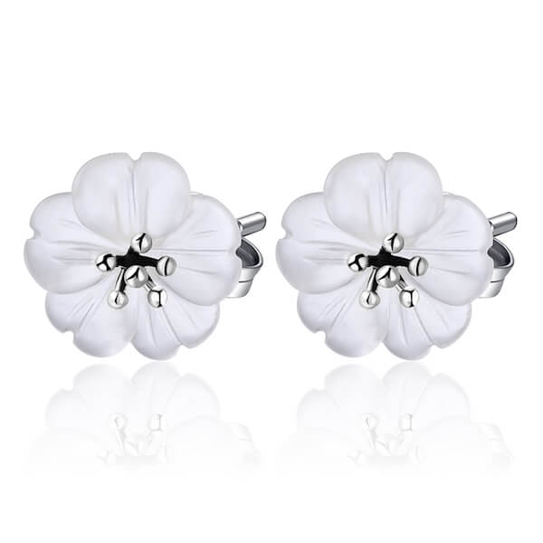 'Flower in the Rain' Studs
