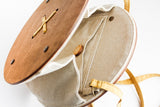 Handmade Small Button Wooden Bag - Handmade Bags