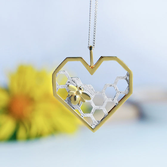 Handmade Honeycomb 'Home Guard' Pendant Necklace