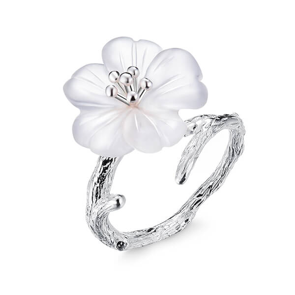 'Flower in the Rain' Ring