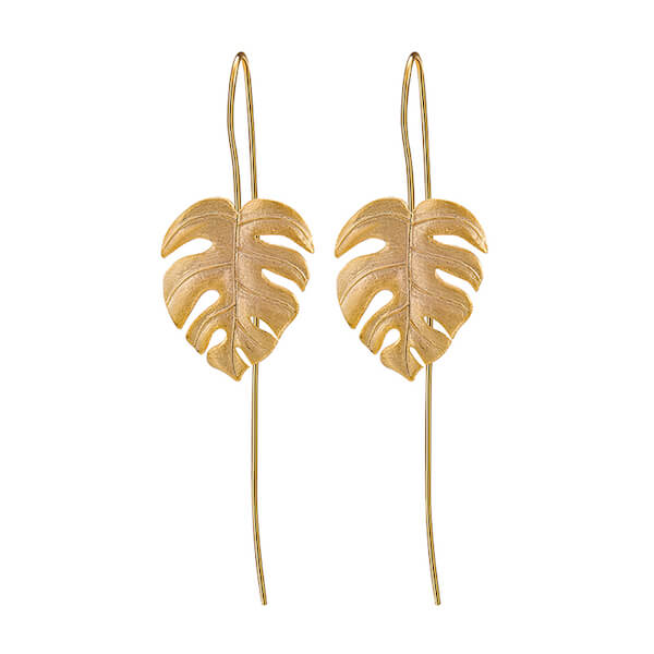 'Monstera Leaves' Dangle Earrings