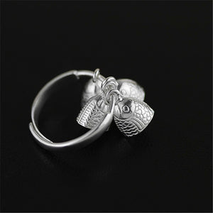 Handmade Vintage 'Little Bells' Ring - Sterling Silver 925