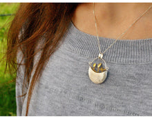 Load image into Gallery viewer, Handmade Jewellery Set: Ring, Drop Earrings & Pendant Necklace - Sterling Silver 925