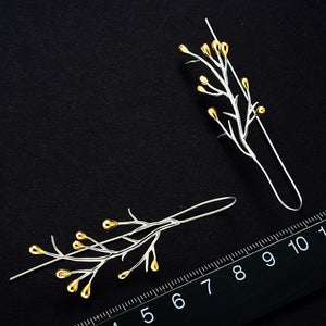 Handmade Tree branches Sterling Silver Earrings - Handmade Jewellery