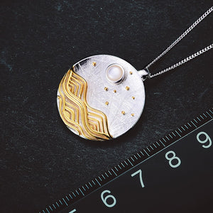 Handmade Moonlight Design Pendants - Sterling Silver 925