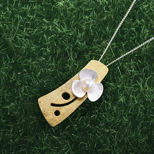 Load image into Gallery viewer, Handmade Fresh Clover Flower Pendant - Gold and Sterling Silver 925