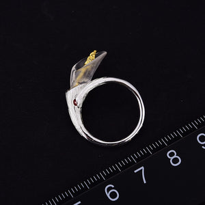 Handmade Designer Calla Lily Flower Adjustable Rings for women
