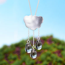 Load image into Gallery viewer, Handmade 'Clouds and Raindrops' Pendant - Sterling Silver 925