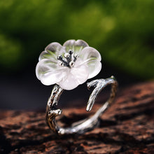 Load image into Gallery viewer, Handmade Designer Flower in the Rain Rings
