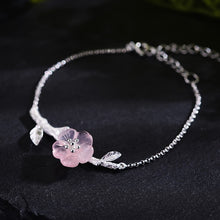 Load image into Gallery viewer, Handmade 'Flower in the Rain' Bracelets for women - Sterling Silver 925
