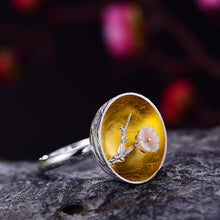 Load image into Gallery viewer, Handmade 'The Aroma of Wintersweet' Rings for Women - Sterling Silver 925