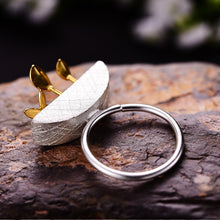 Load image into Gallery viewer, Handmade 'My Little Garden' Open Silver Rings - Sterling Silver 925