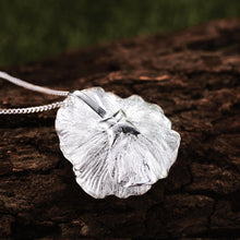 Load image into Gallery viewer, Handmade 'Blooming Poppies' Flower Pendant - Sterling Silver 925