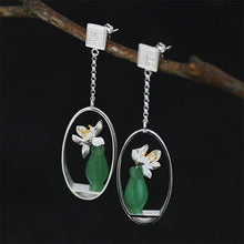 Load image into Gallery viewer, Handmade 'Lotus Whispers' Silver Earrings - Sterling Silver 925