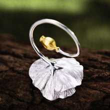 Load image into Gallery viewer, Handmade 'Blooming Poppies' Silver Ring - Sterling Silver 925