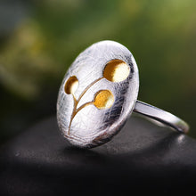 Load image into Gallery viewer, Handmade '3 Cherries' Silver Ring - Sterling Silver 925