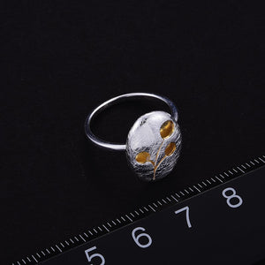 Handmade '3 Cherries' Silver Ring - Sterling Silver 925