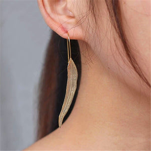 Handmade Vintage Drop Earrings for Girls - Gold and Sterling Silver 925