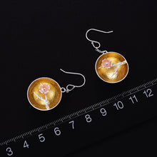 Load image into Gallery viewer, Handmade 'Aroma of Wintersweet' Silver Earrings - Sterling Silver 925