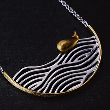 Load image into Gallery viewer, Handmade 'Swimming Fish' Pendant Necklace - Sterling Silver 925
