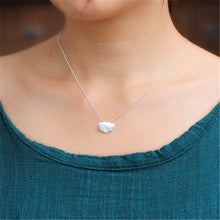 Load image into Gallery viewer, Handmade 'Frosted Cloud' Pendant - Sterling Silver 925