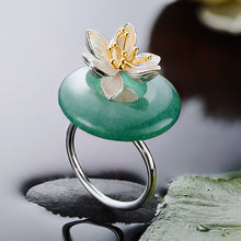 Load image into Gallery viewer, Handmade 'Lotus Whispers' Silver Rings  -  925 Sterling Silver