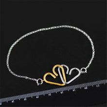Load image into Gallery viewer, Handmade Romantic 'Sweet Heart to Heart' Bracelet - Sterling Silver 925
