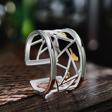Load image into Gallery viewer, Handmade Designer 'Paper-cut' Sterling Silver Rings - 925 Sterling Silver