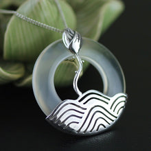 Load image into Gallery viewer, Handmade Vintage Round Pendant w/out a Necklace - Sterling Silver 925