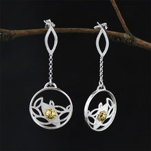 Load image into Gallery viewer, Handmade 'Ladybird' Dangle Earrings -Sterling Silver 925
