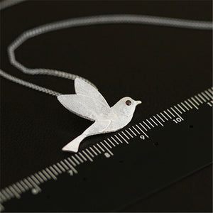 Handmade 'Flying Bird' Pendants - Gold Plated and Sterling Silver 925