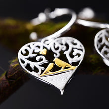 Load image into Gallery viewer, Handmade Heart - Shaped Silver Earrings - Sterling Silver 925