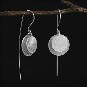Handmade Vintage Round Silver Earrings - Sterling Silver 925