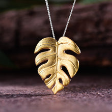 Load image into Gallery viewer, Handmade Monstera Leaves Pendant w/out Necklace - Sterling Silver 925