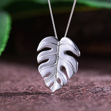Load image into Gallery viewer, Handmade Monstera Leaves Pendant - Gold and Sterling Silver 925