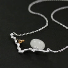 Load image into Gallery viewer, Handmade Bird Pendant Necklace - Sterling Silver 925